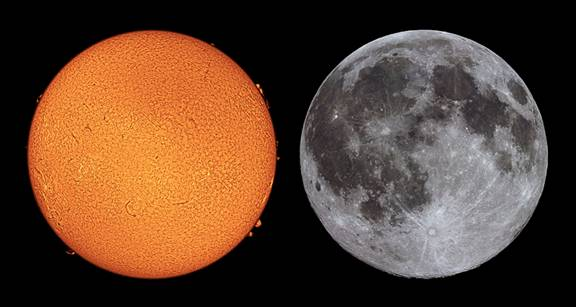 compare moon sun earth - photo #20